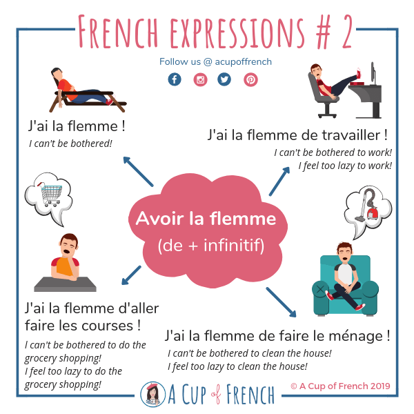 French expression - Avoir la flemme