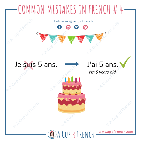 Common mistakes in French 4