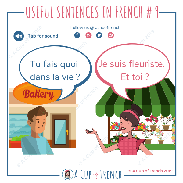 Ask someone about his job in French