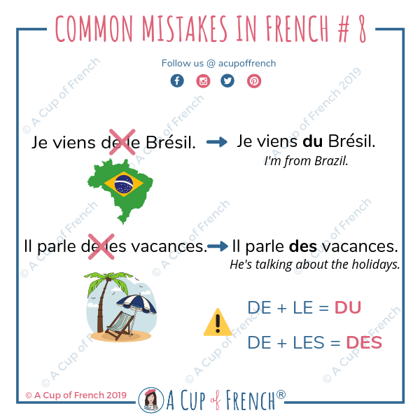 Common mistakes in French #8