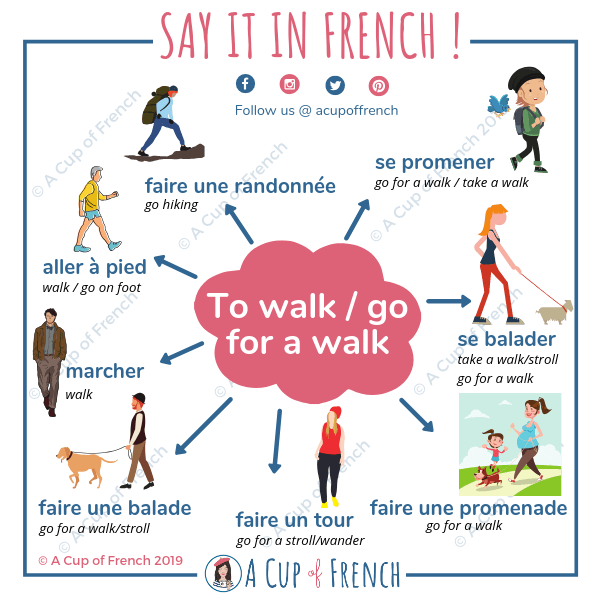 How to say to go for a walk in French