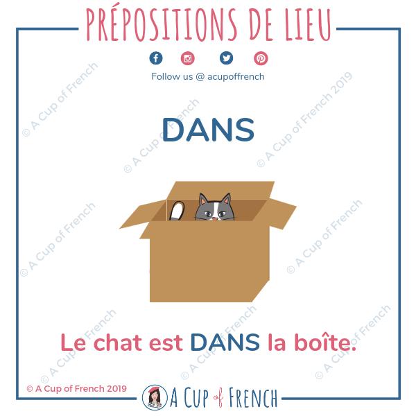 French preposition - DANS