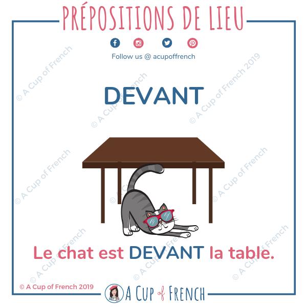 French preposition - DEVANT