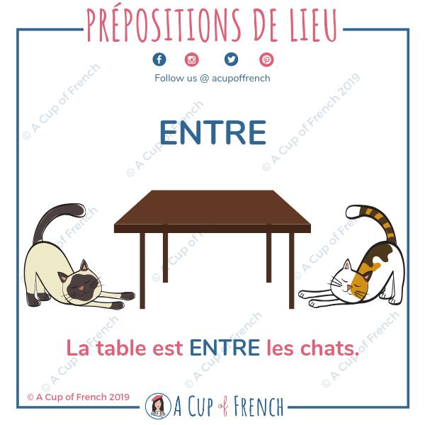 French preposition - ENTRE