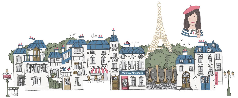 Paris skyline banner