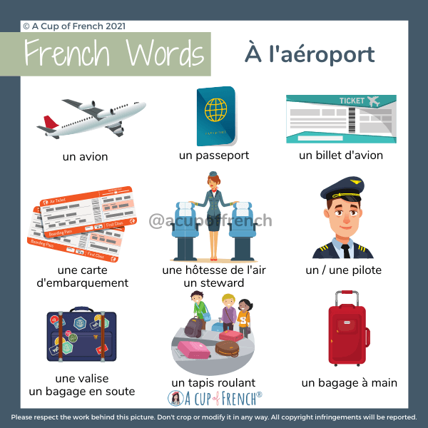 Airport vocabulary in French
