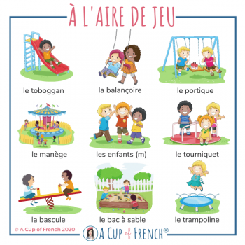 At the playground - French words