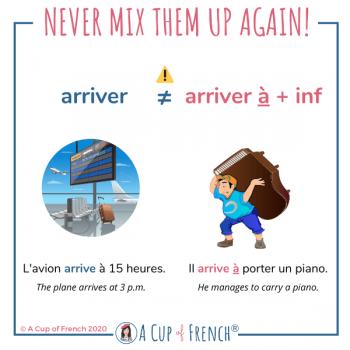 Never mix them up again - ARRIVER / ARRIVER À