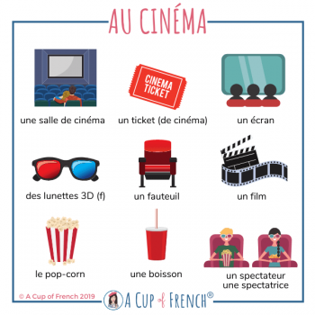 At the movies - French words