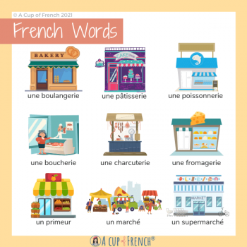 Shops and public places in French 1