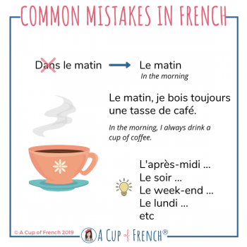 Common mistakes in French # 10