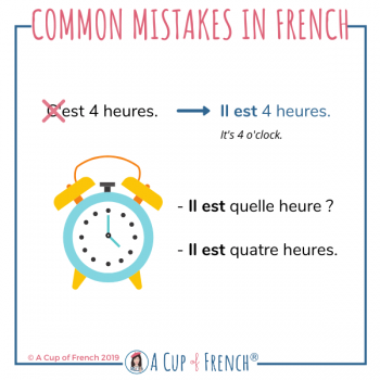Common mistakes in French # 11
