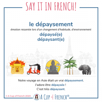 French words - dépaysement