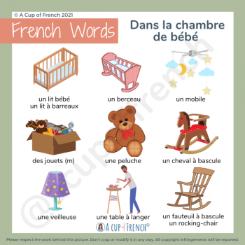 In baby's room French vocabulary