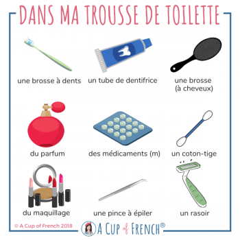 In my toilet bag - French words