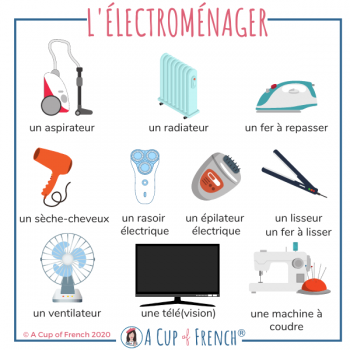 Household appliances in French