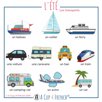 Summer transports - French words