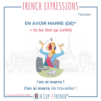French expression - En avoir marre
