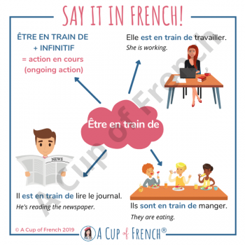 French expression - Être en train de