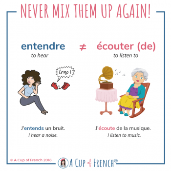 French verbs - ENTENDRE / ÉCOUTER