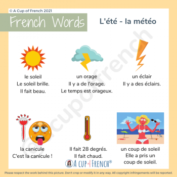 Summer weather in French