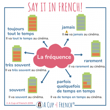 Frequency adverbs in French