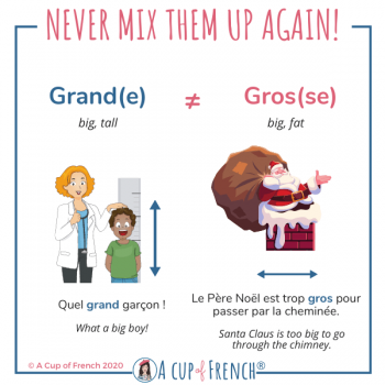 How to say big in French 3