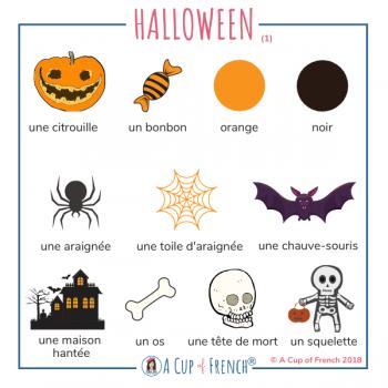 French vocabulary - Halloween