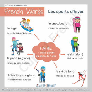 Winter sports in French