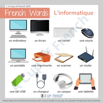 Computer - French words 1