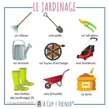 The garden - French words 2