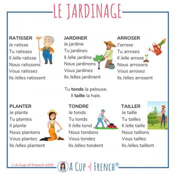 The garden - French verbs