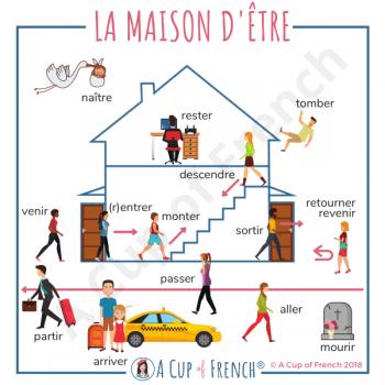 French verbs using ÊTRE in passé composé