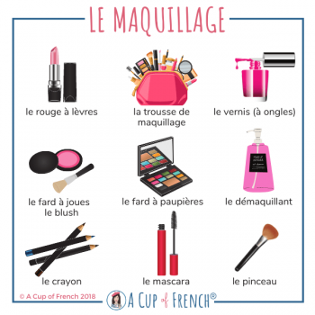 Makeup - French words