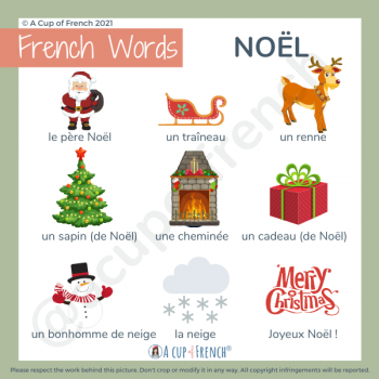 Christmas - French words