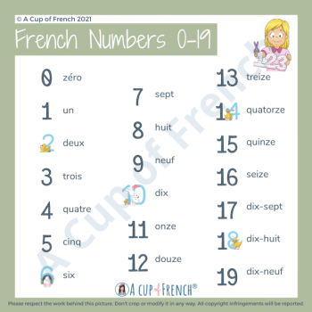 French numbers 0-19