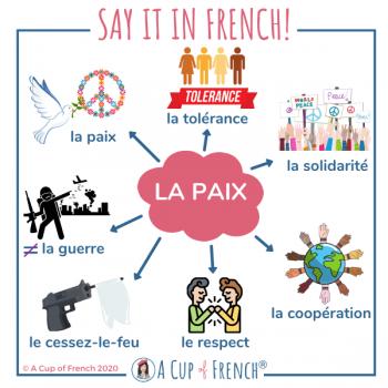 Paix - French vocabulary
