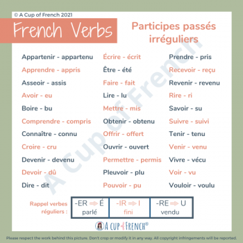 French irregular past participles
