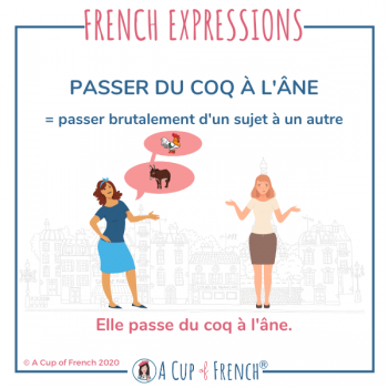 Passer du coq à l'âne - French expression
