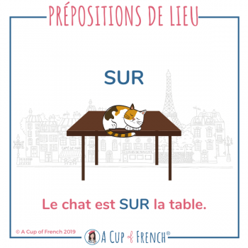 French preposition - SUR