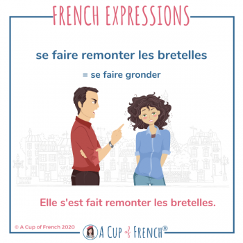 French expression - Remonter les bretelles