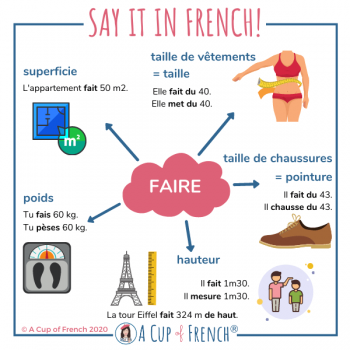 Size and weight in French