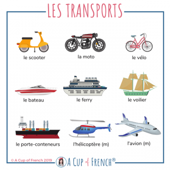 Means of transport - French words 2